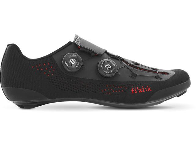 Fizik Infinito R1 Rennradschuhe Unisex schwarz knitted/rot details